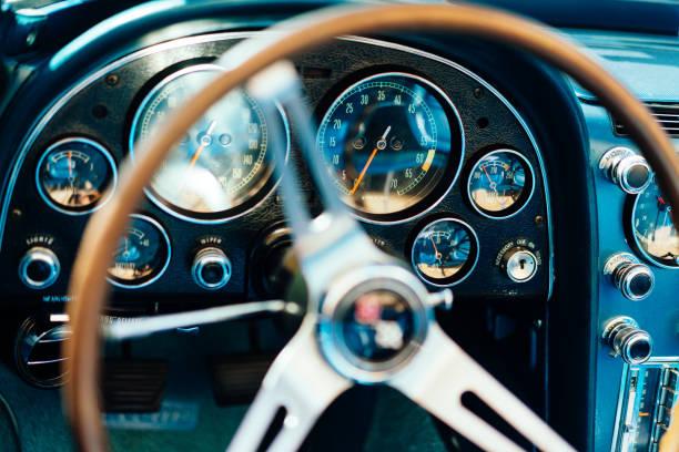 Classic Car Detail stock photo