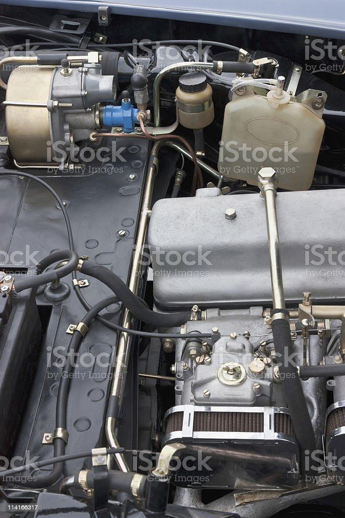 Classic car engine royalty-free stock photo