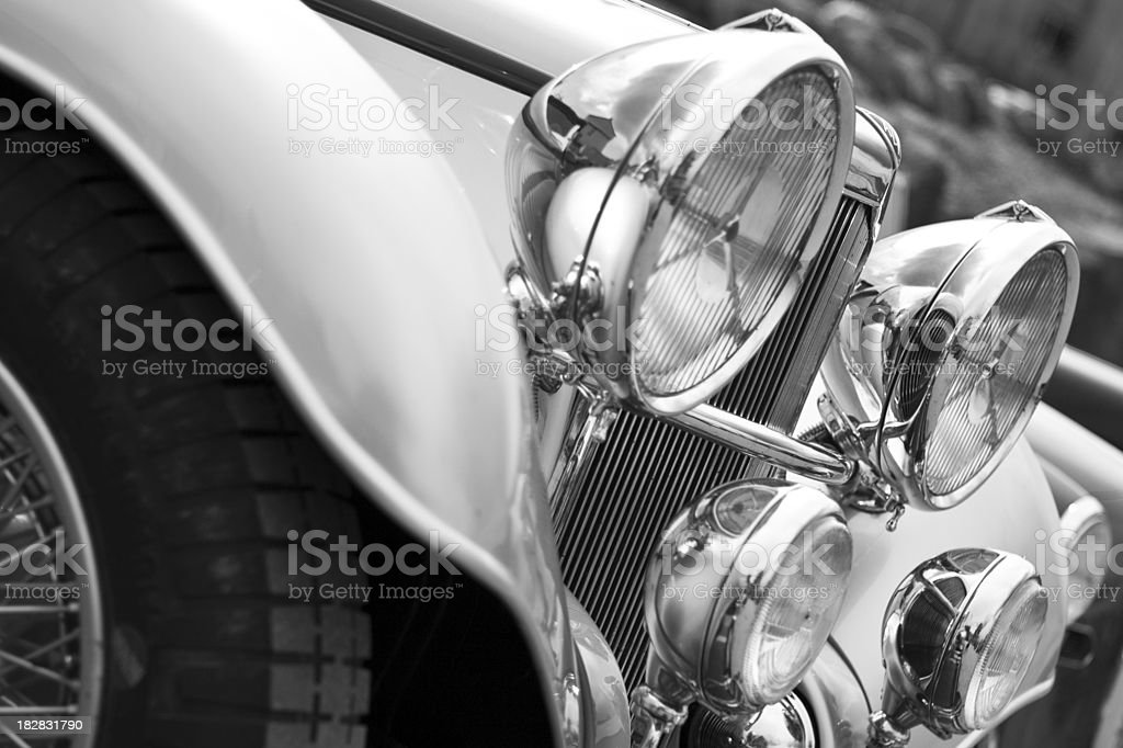 Classic Car Grille royalty-free stock photo