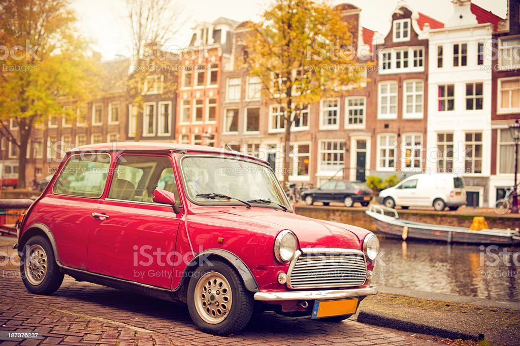 Classic car in Amsterdam stock photo