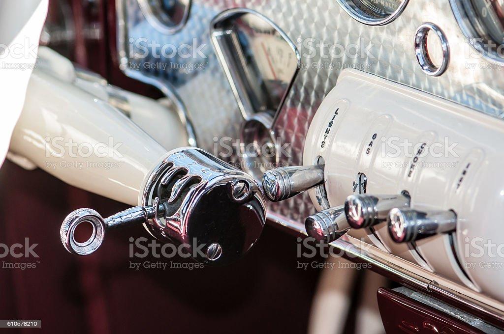 Classic Car Interior stock photo