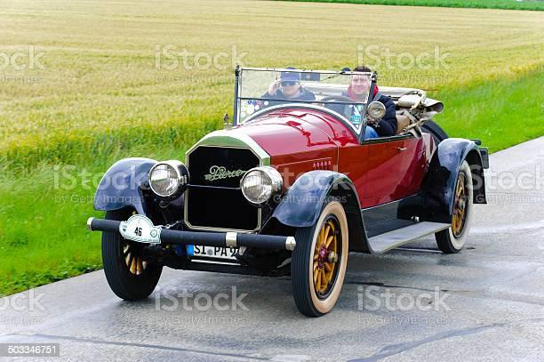 Classic car rally with Pierce Arrow