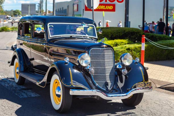 Classic car show in Kurri Kurri, Australia. - foto stock