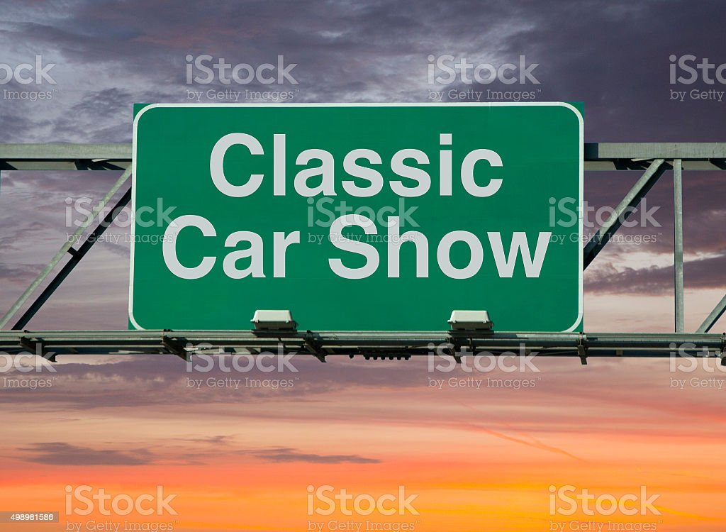 classic car show stock photo