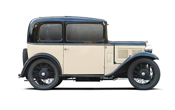 classic car mit schneidepfaden - oldtimer stock-fotos und bilder