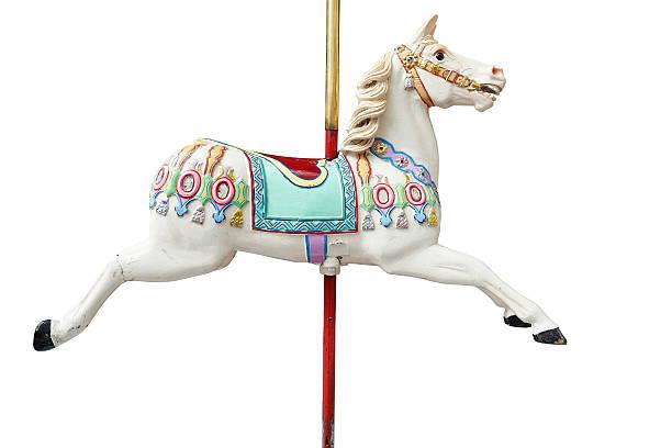 klassische karussell horse - karussell stock-fotos und bilder