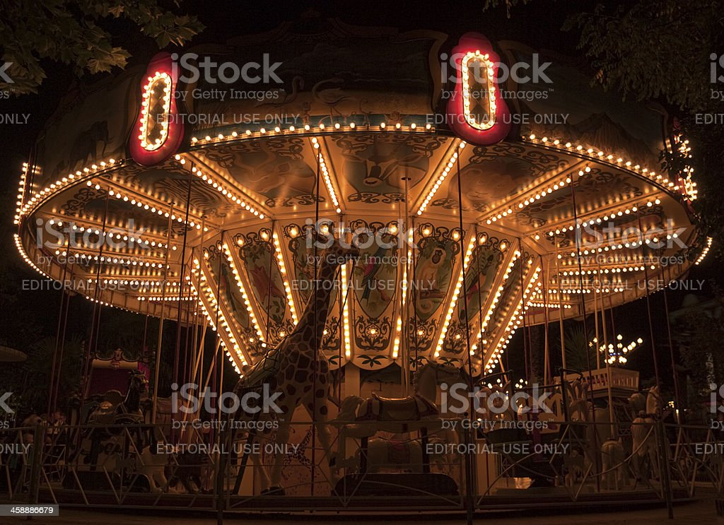 Classic carousel royalty-free stock photo