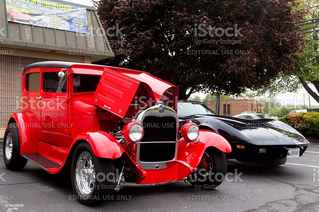 Classic Cars At A Car Show royalty-free stock photo