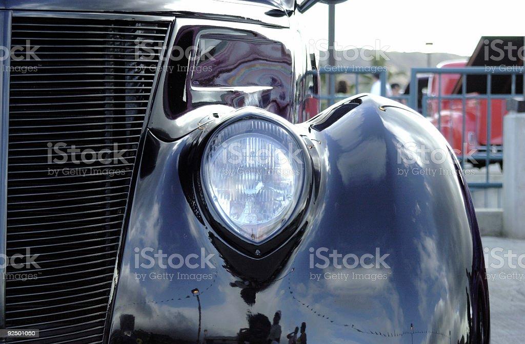 Classic car's Headlight royalty-free stock photo