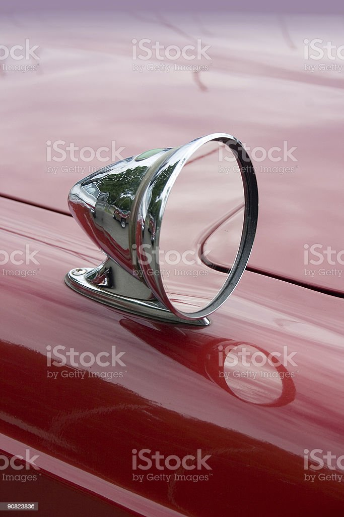classic cars - mirror royalty-free stock photo