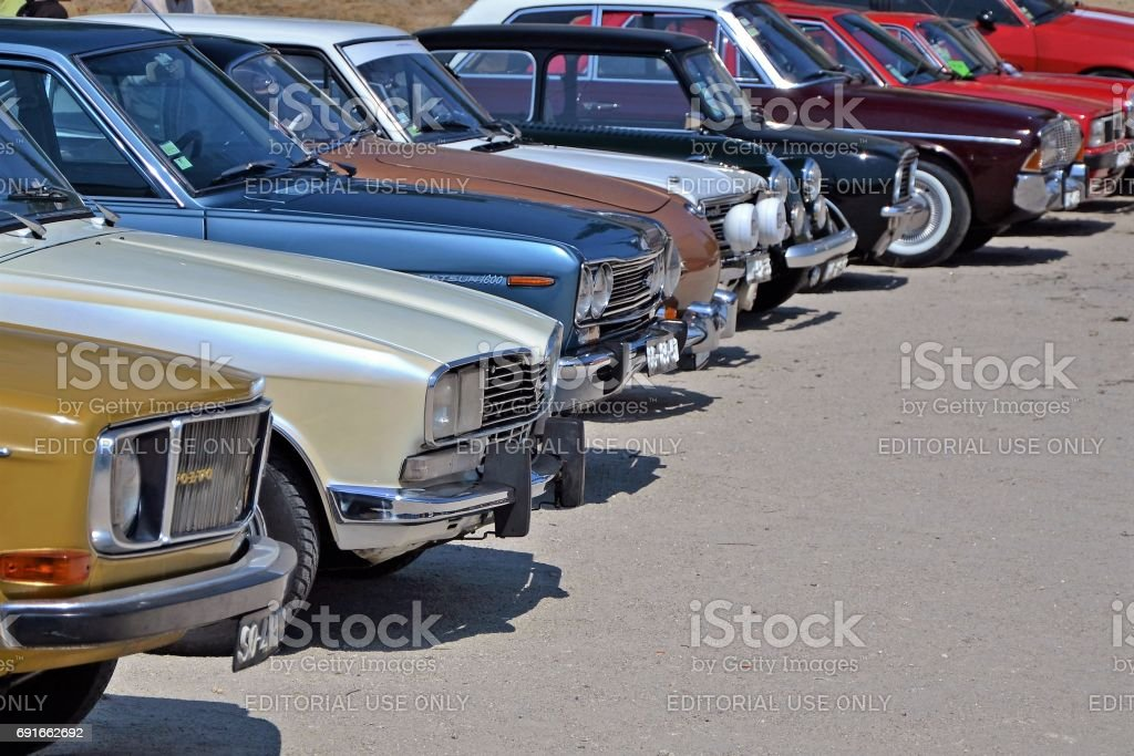 Classic cars on the parking stock photo