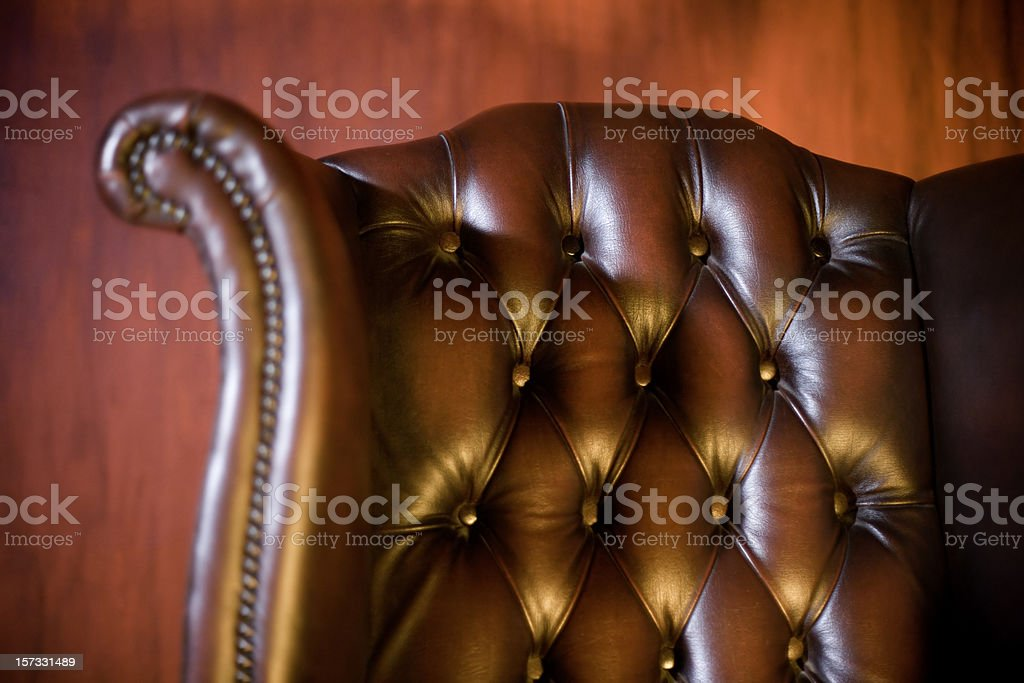 Classic chair in red background royalty-free stock photo