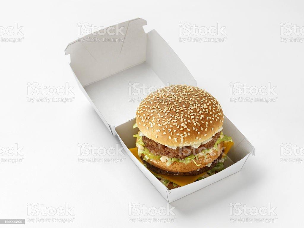 Classique hamburger au fromage avec Sauce spéciale - Photo