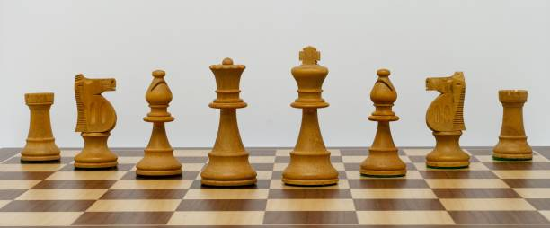 Classic Chess Pieces stock photo