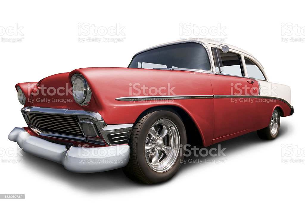 Classic Chevrolet Car on white w/ clipping path royalty-free stock photo