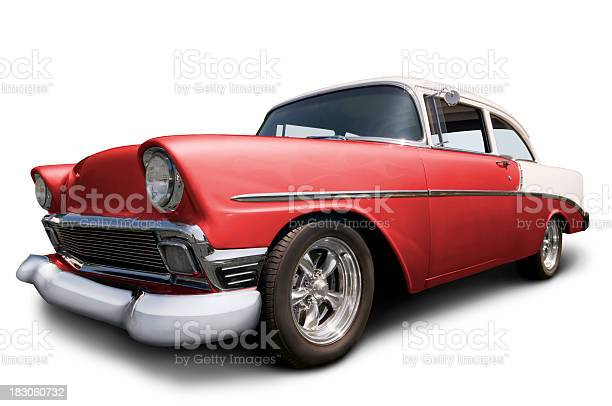 Classic Chevrolet Car on white w/ clipping path