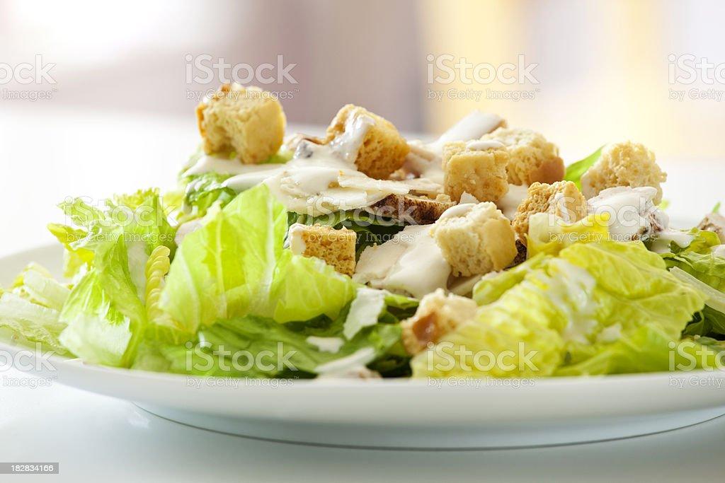 Classic Chicken Caesar Salad stock photo