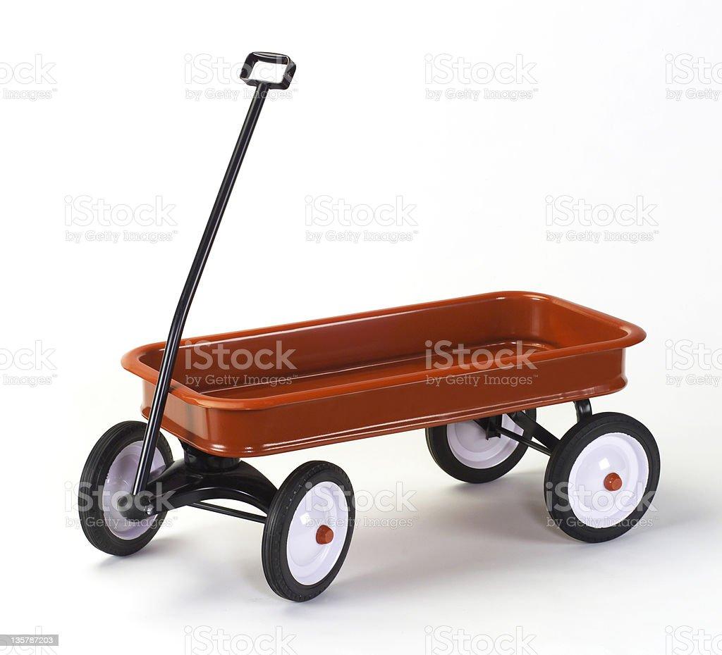Klassische child's Little Red Wagon auf weiß mit weiche Schatten – Foto