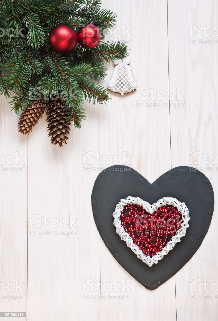 Classic christmas background for greeting card. Christmas and New Year's concept. stock photo