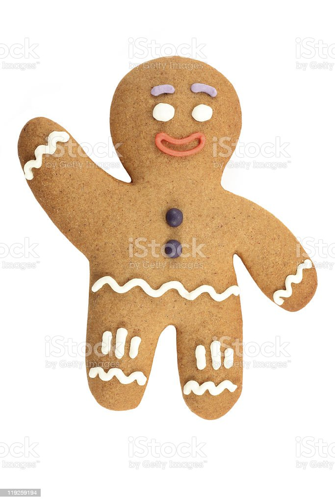 Classic Christmas gingerbread man stock photo