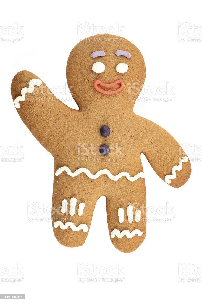 Classic Christmas gingerbread man stock photo