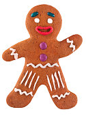 Classic Christmas gingerbread man. Used gingerbread cookies home-handedly made it from me. They are unique pieces and can not be found anywhere.