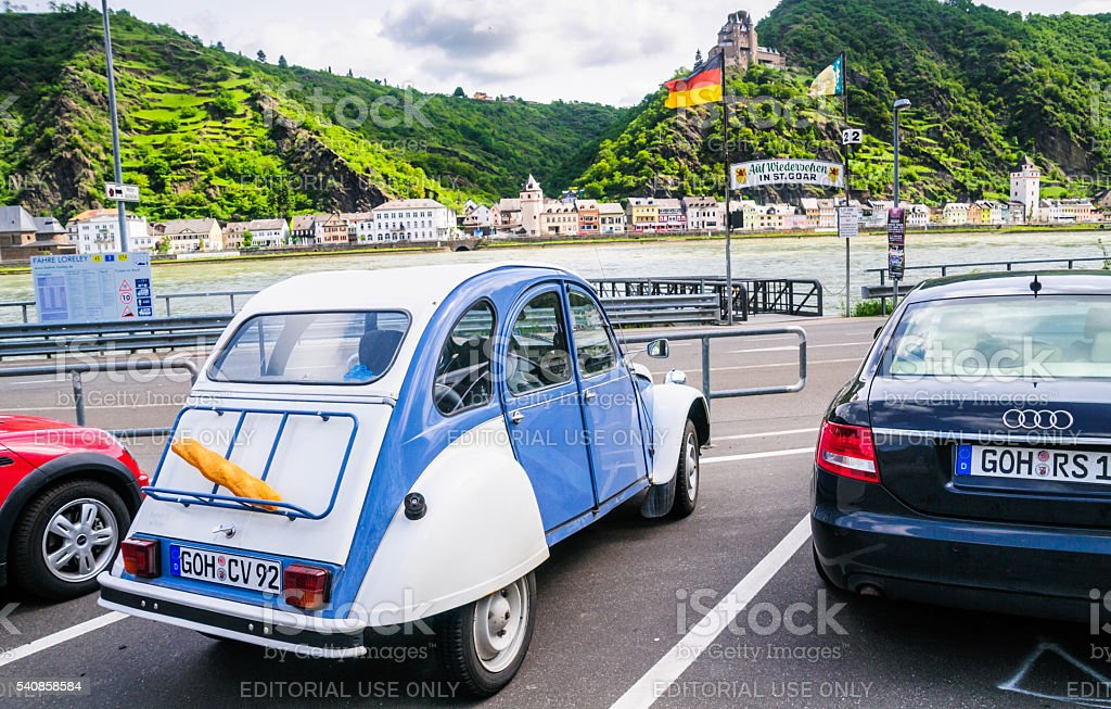 Classic Citroen stock photo