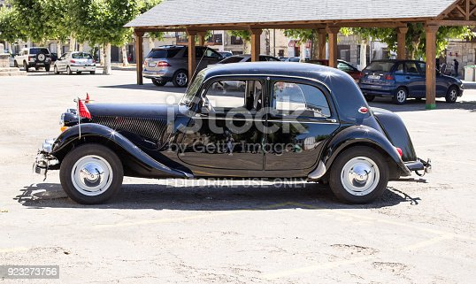 910009838 istock photo Classic Citroen Traction Avant parked iin the province of Zamora, Spain. 923273756