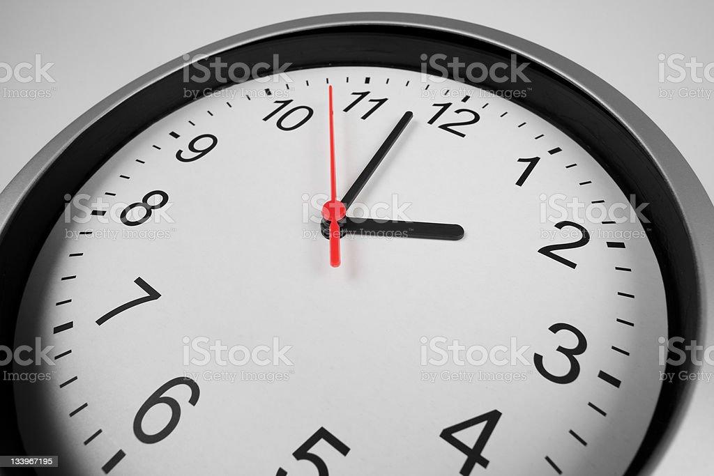 Clásico macro shot reloj con lente gran angular - foto de stock