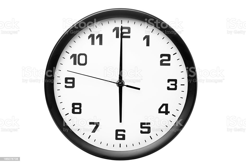 Classic clock on wall royalty-free stock photo