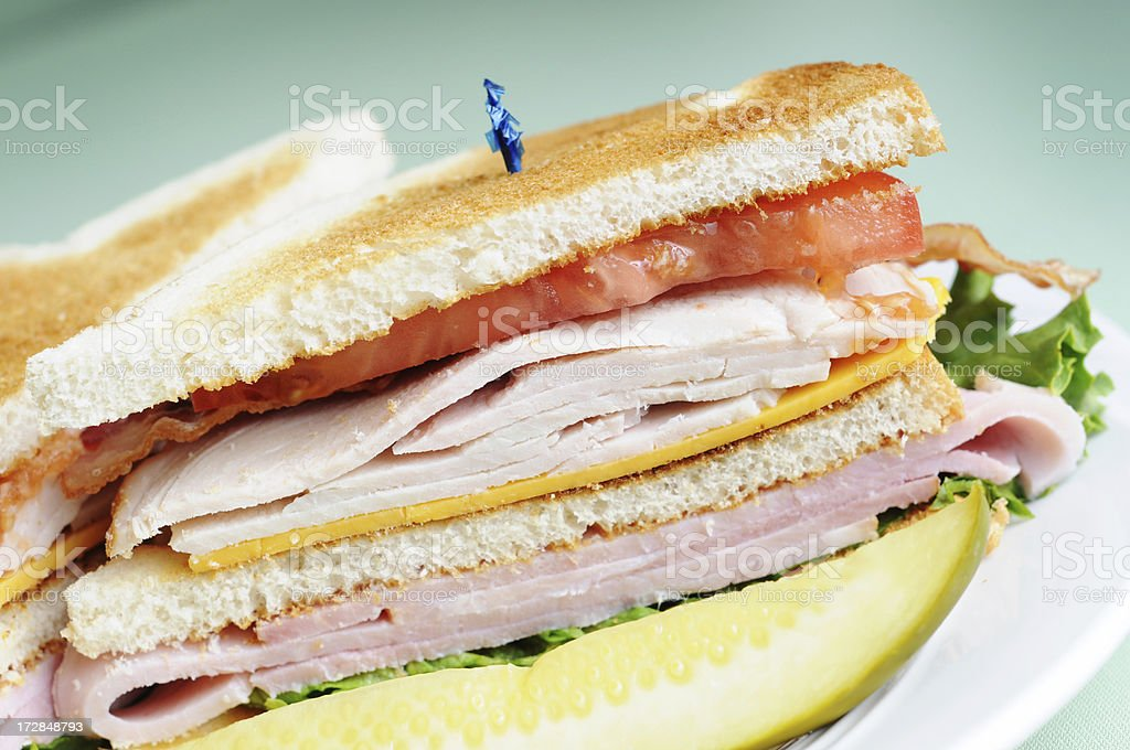 Classic Club Sandwich royalty-free stock photo