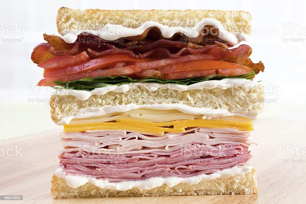 Classic Club Sandwich stock photo
