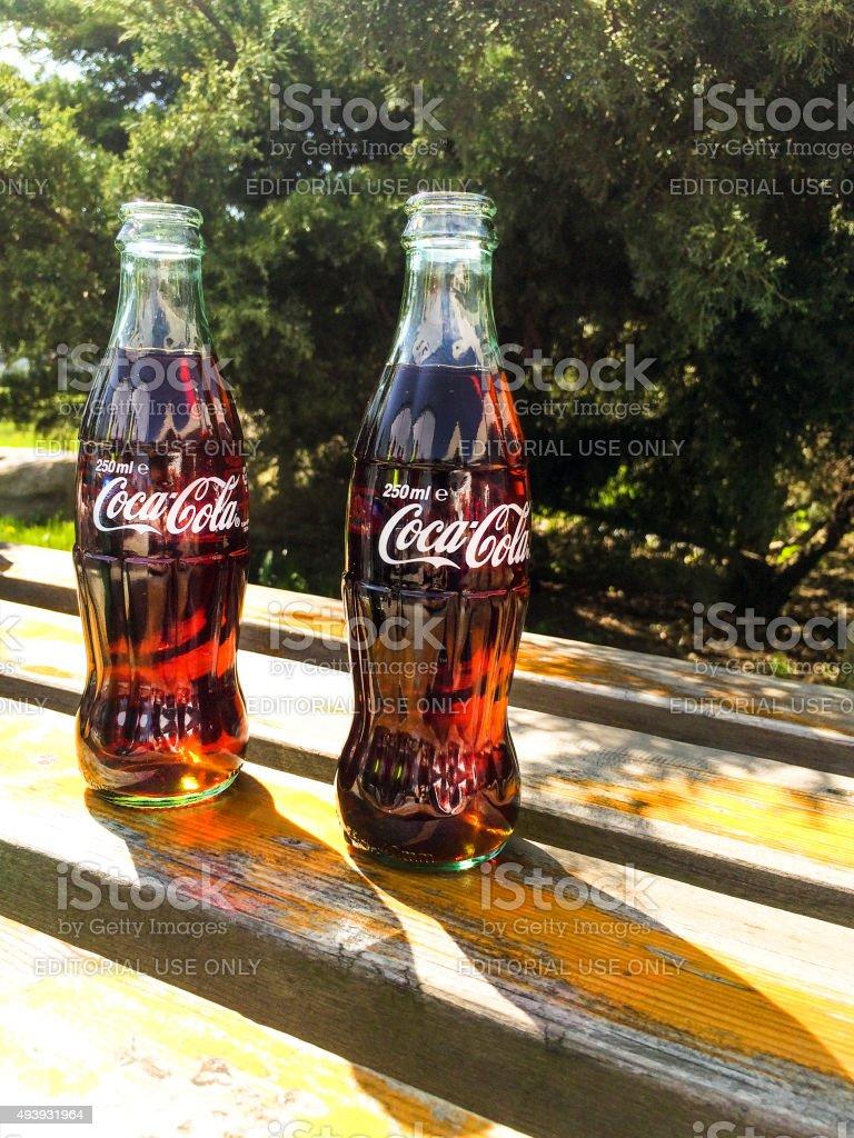 Classic Coca-Cola bottle stock photo