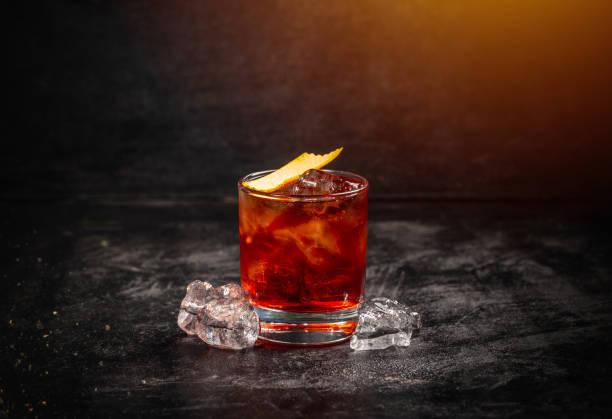 Classic cocktail Negroni stock photo