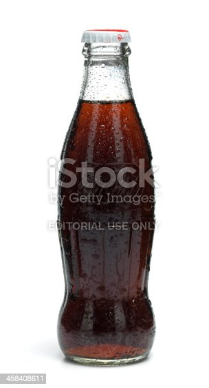 Gothenburg, Sweden - June, 04 2011: Classic Coca Cola bottles photographed in a photo studio.