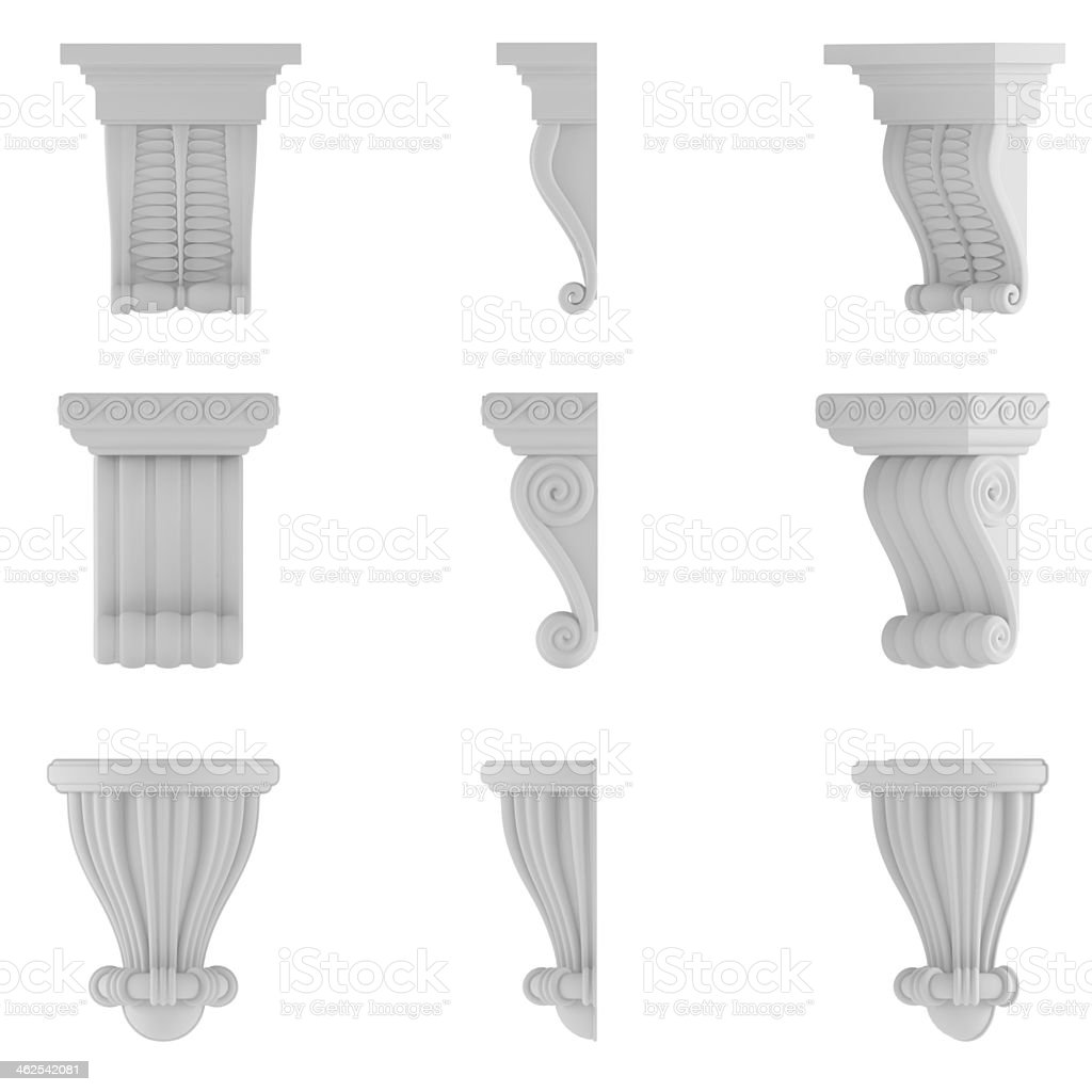 classic column. Ornamental elements stock photo