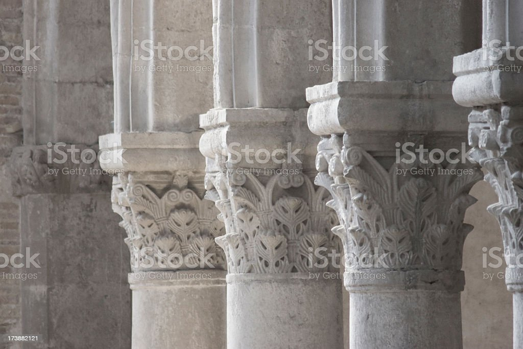 classic columns and capital royalty-free stock photo