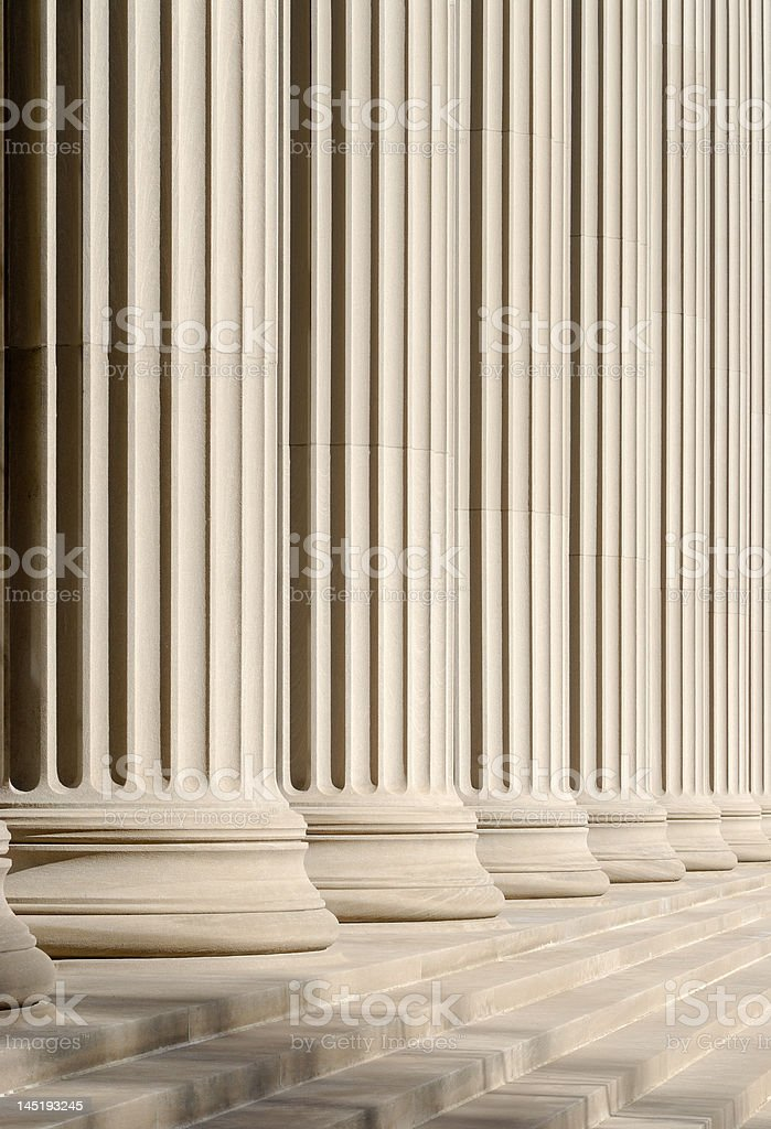 Classic columns and steps stock photo