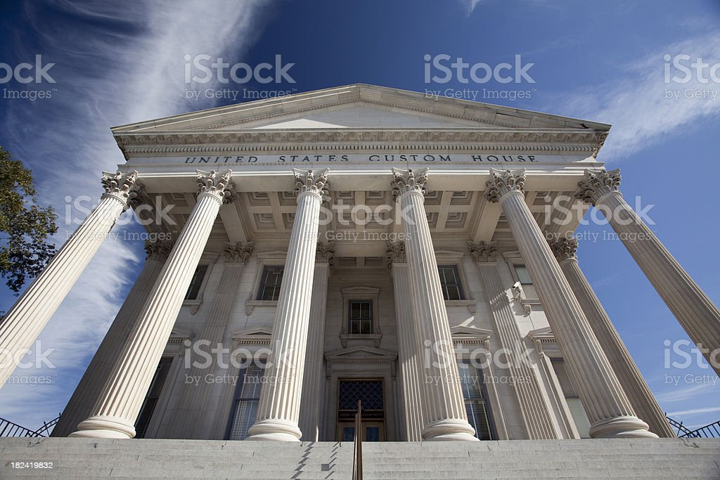 Classic columns in Charleston royalty-free stock photo