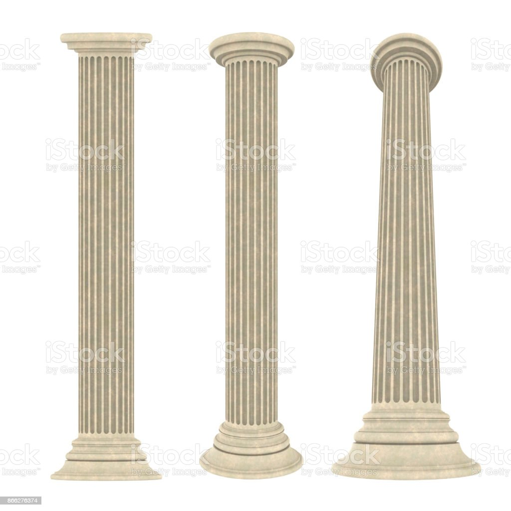 Classic Columns Isolated stock photo