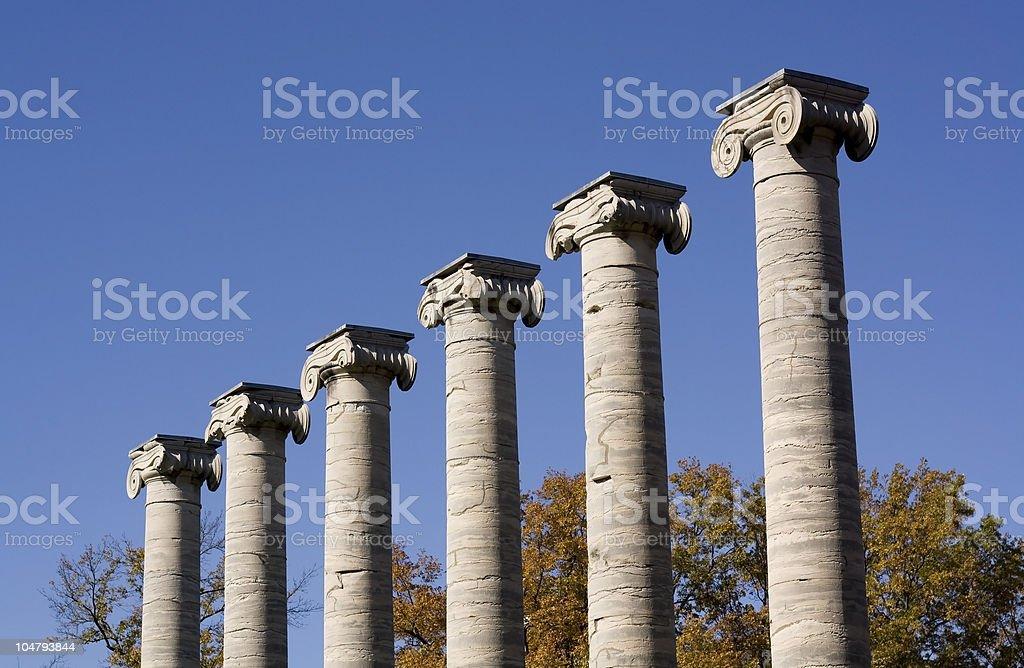 Classic Columns royalty-free stock photo