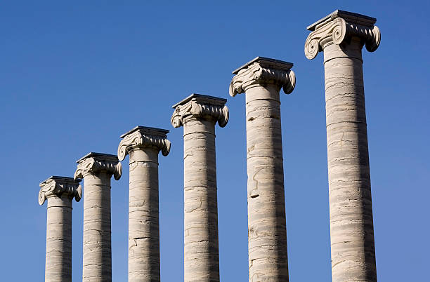 classic columns - number 6 stock photos and pictures