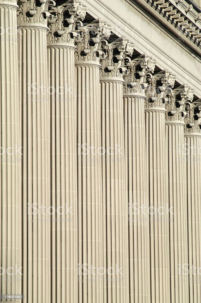 Classic Columns Vertical stock photo