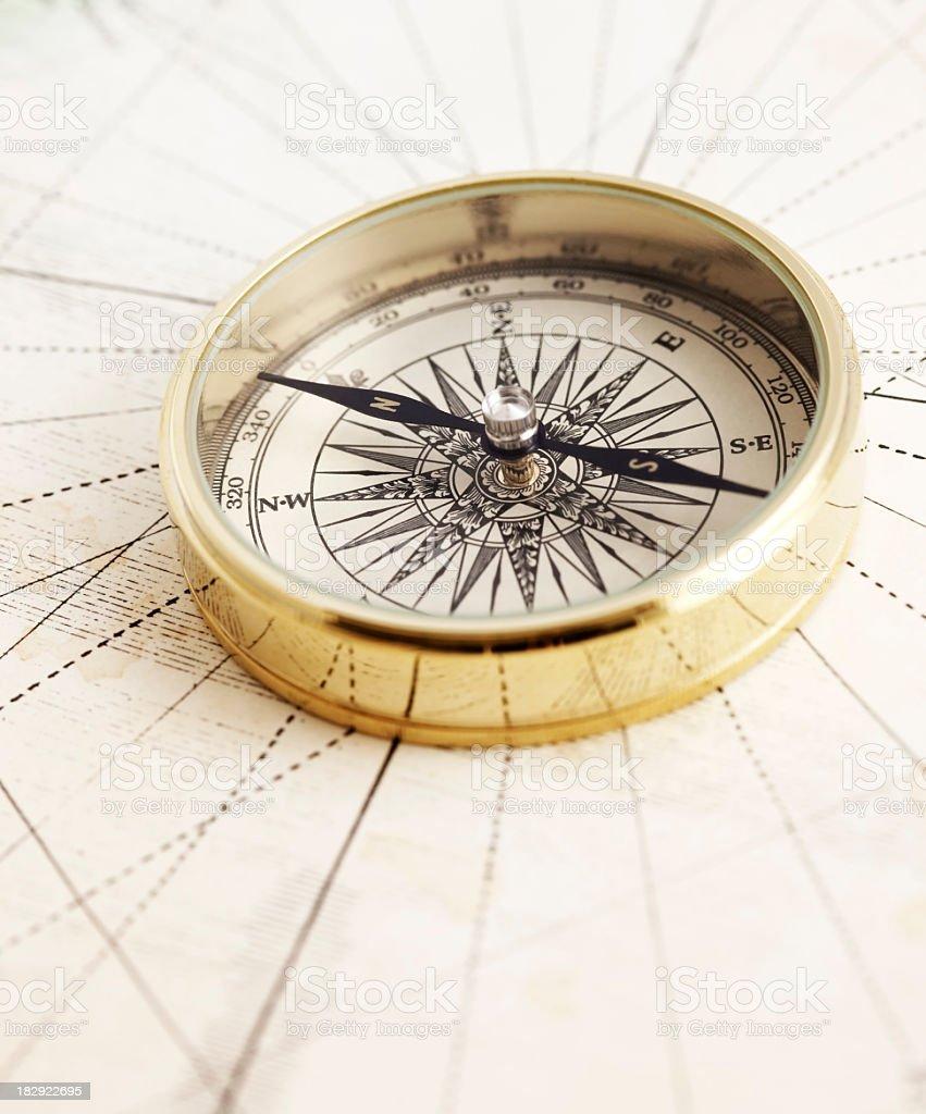 Klassische compass - Lizenzfrei Alt Stock-Foto