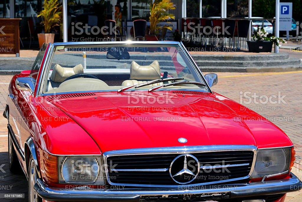 Classic Convertible Car Red Mercedes Benz 560sl Stock Photo Download Image Now Istock