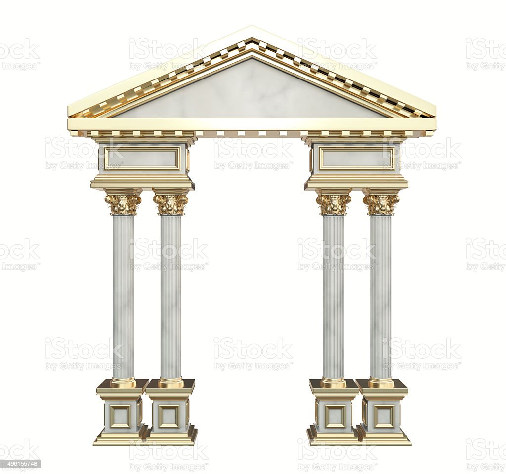 Classic Corinthian Column Arch stock photo