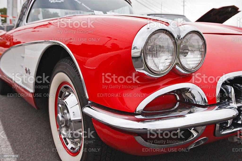 Classic Corvette stock photo