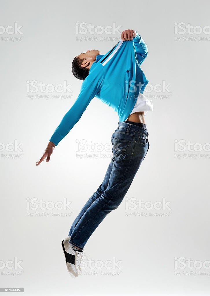classic dance jump stock photo
