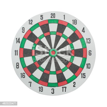 istock Classic Darts Board on a white background. 482020471