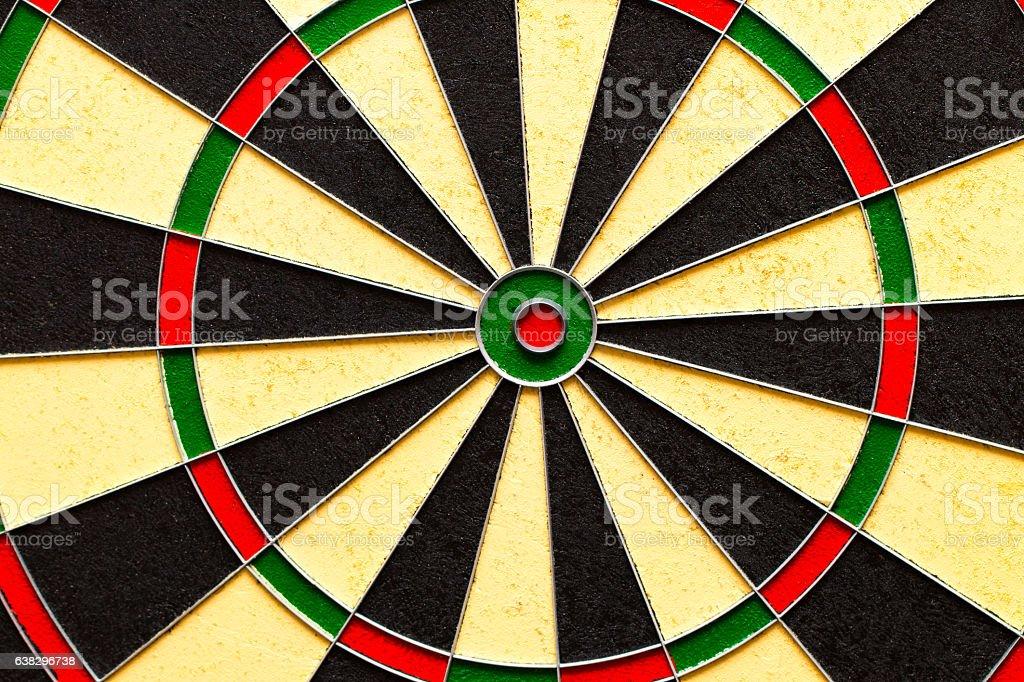 Classic Darts Board with Twenty Black stock photo